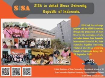 นักศึกษาแลกเปลี่ยนวัฒนธรรมประเทศอินโดนีเซีย