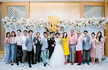 Dean of SISA, Dr. Niracharapa Tongdhamachart joined SISA alumni wedding ceremony ( Nat & Pear) on Feb 20 2019