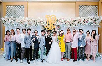 Dean of SISA, Dr. Niracharapa Tongdhamachart joined SISA alumni wedding ceremony ( Nat & Pear) on Feb 20 2019