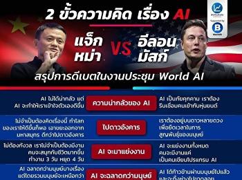 2 ขั้วความคิด เรื่อง AI