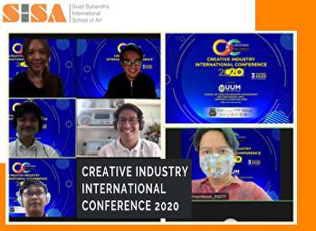 SISA presents international academic achievements at Creative Industry International Conference 2020.