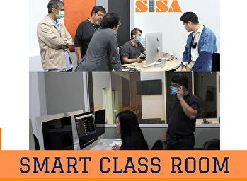 SISA training the use of the Smart Class Room system